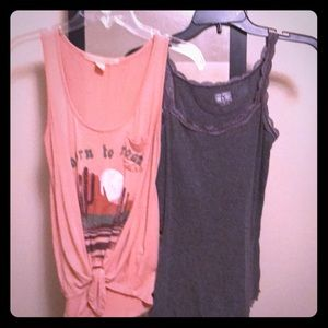 Tank and Gray camisole